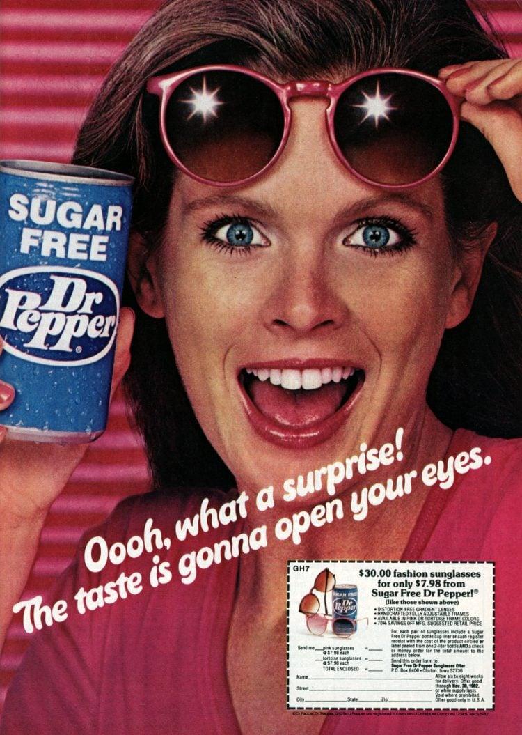 Sugar Free Diet Dr Pepper soda 1982