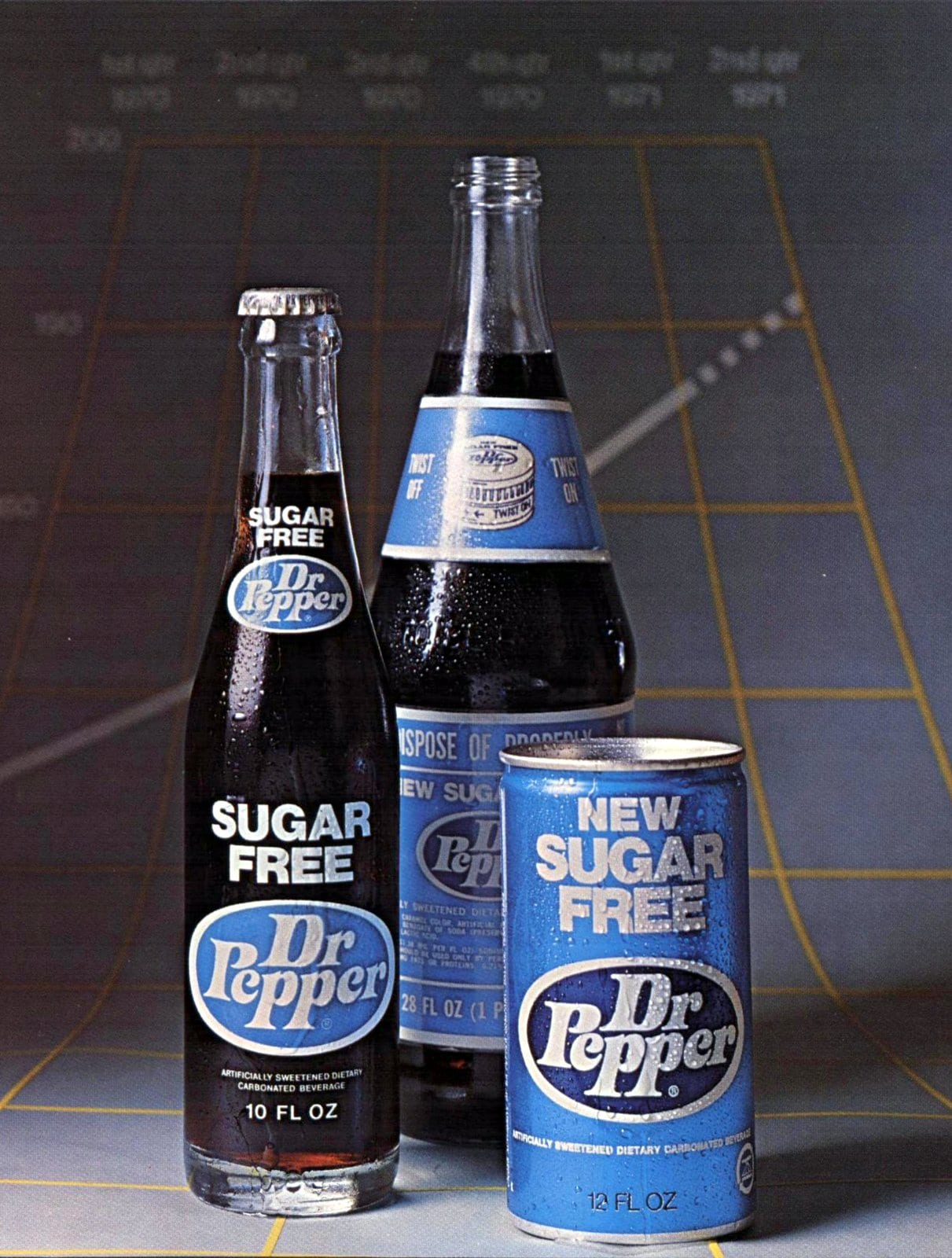 Sugar Free Dr Pepper - Packaging from 1971