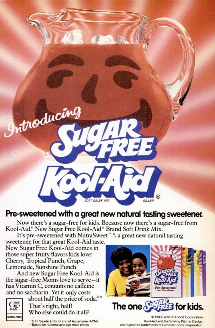 Sugar-free Kool Aid with Nutrasweet - 1983