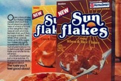 Sugarless cereal - Sun flakes from 1985