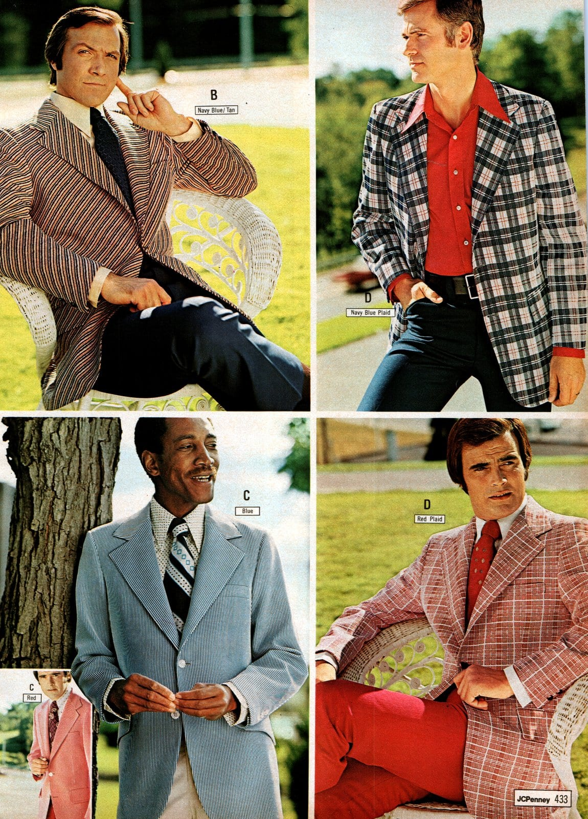 Suits for men from JC Penney in 1973 (1)