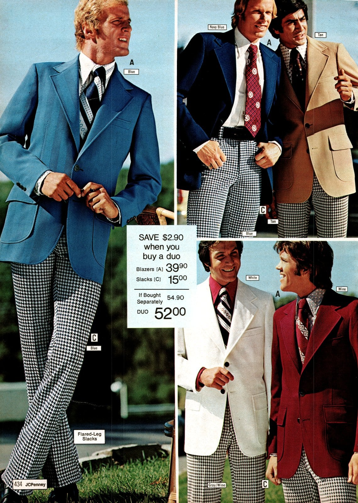 Suits for men from JC Penney in 1973 (2)