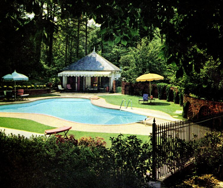 Summer 1967 - Vintage backyard pool and cabana house