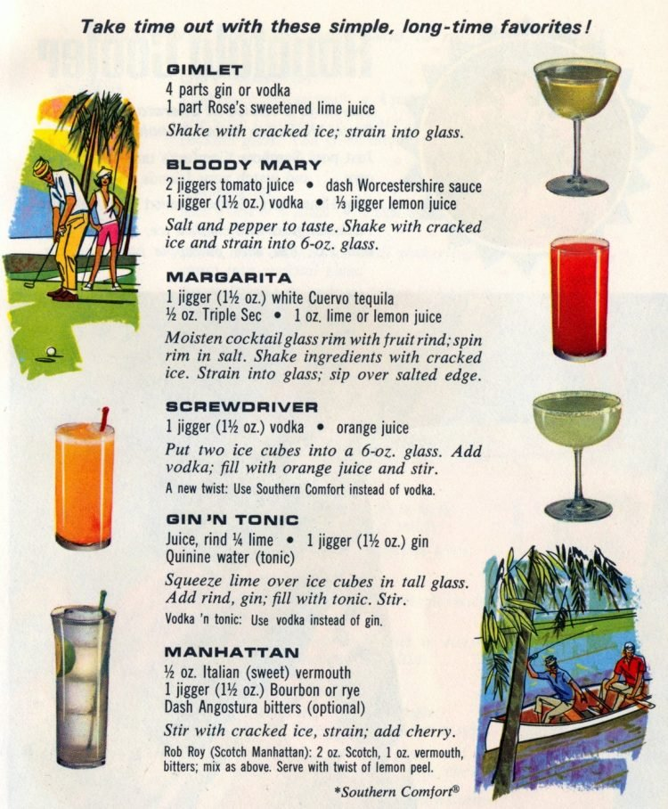 Summer cocktail recipes from 1968 (1)