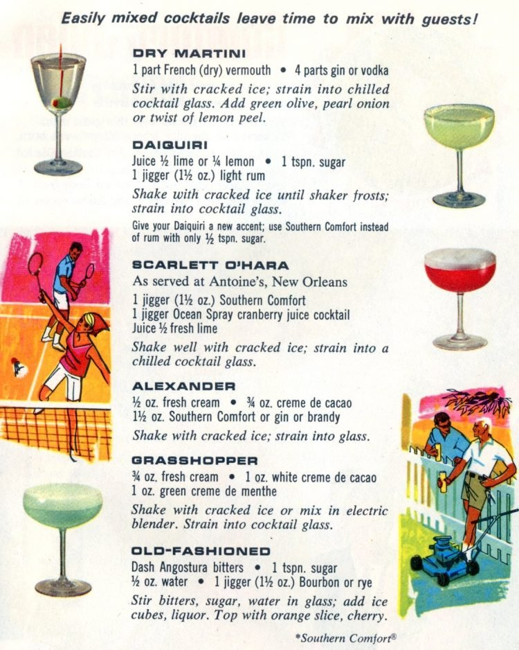 Summer cocktail recipes from 1968 (3)