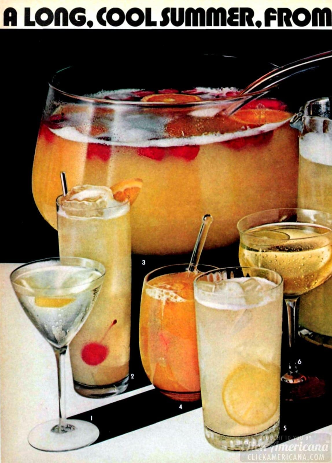 Summertime is the time for tall, cool rum drinks (1971)