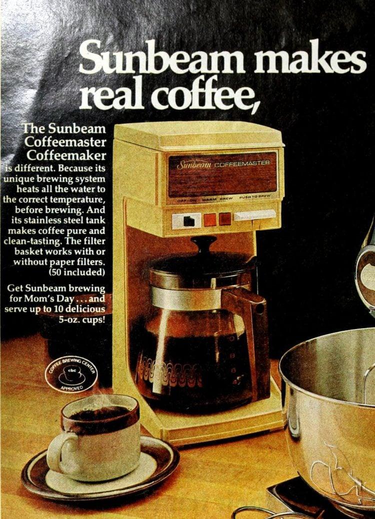 Sunbeam coffee maker -- coffeemaster (1976)