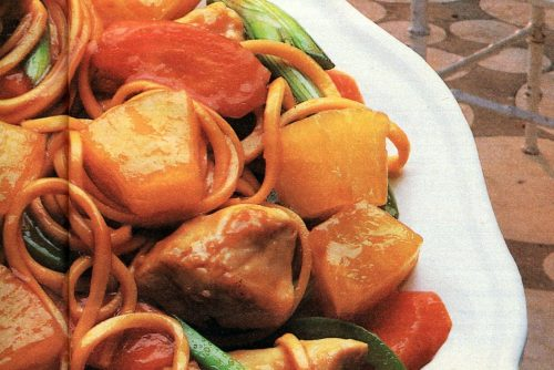 Sunburst chicken stir fry retro recipe from 1985 (1)