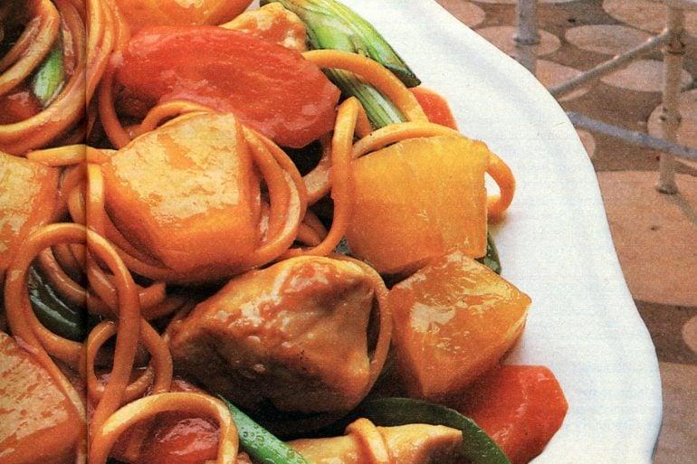 Sunburst chicken stir fry retro recipe from 1985 (1)