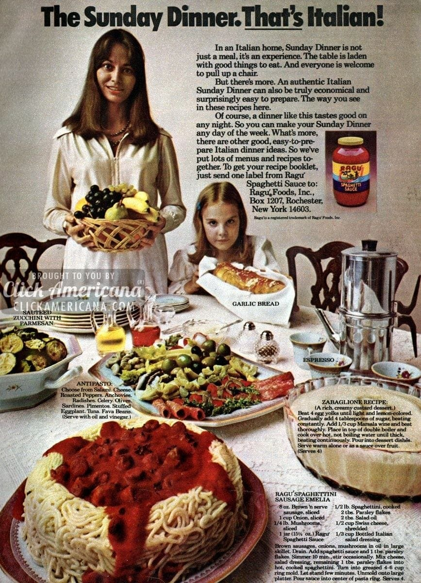 Sunday dinner recipes thats italian 1974 click americana forumfinder Image collections