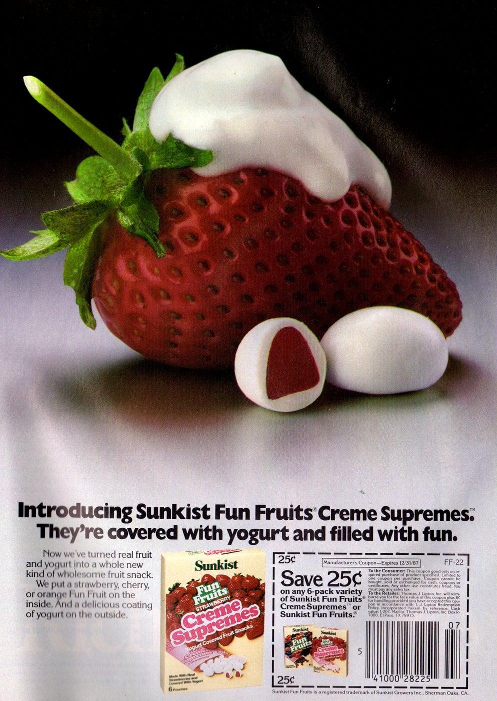 Sunkist Fun Fruits Creme Supremes (1987)