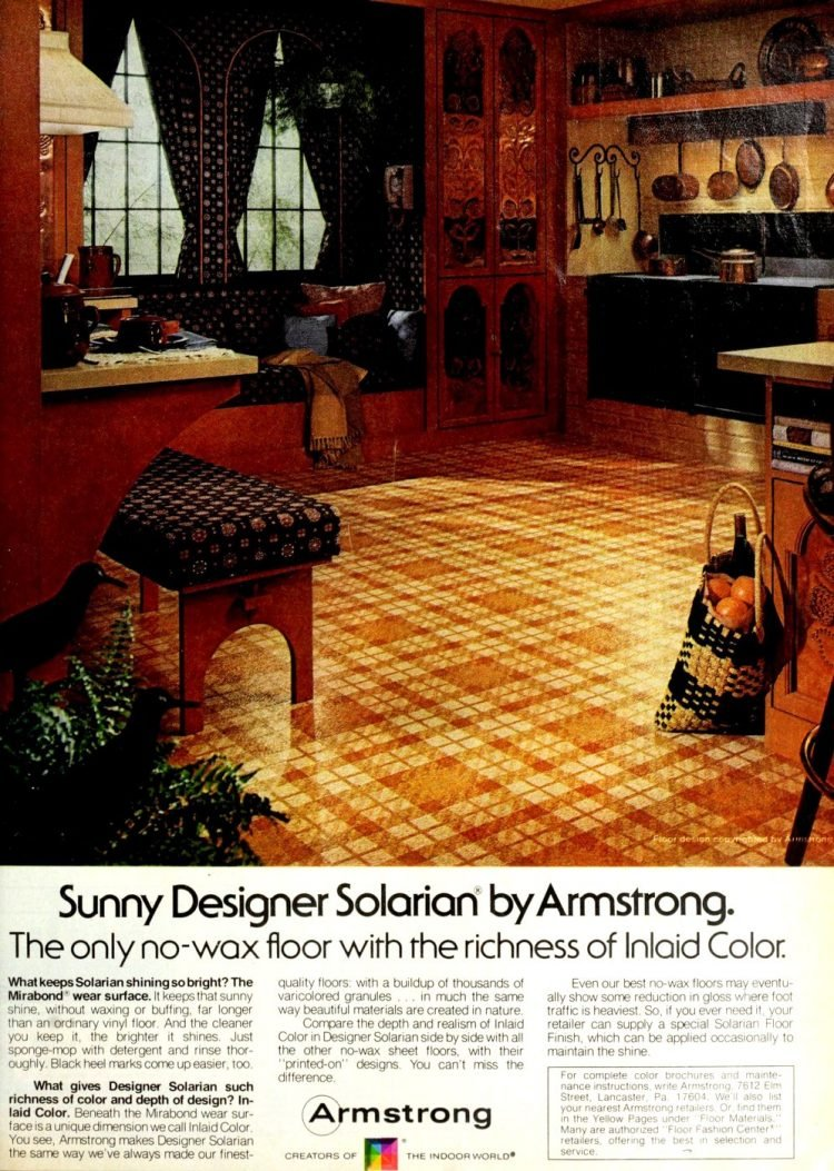Sunny plaid vintage floors from 1976