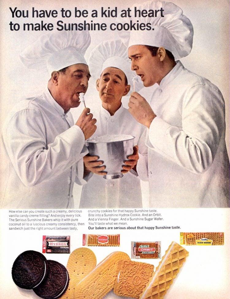 Sunshine packaged cookie varieties (1967)