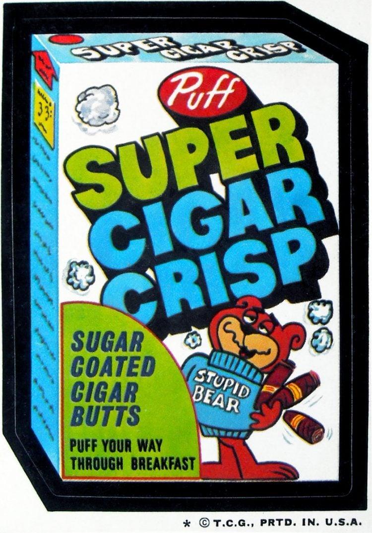 Super Sugar Crisp cereal - Topps Wacky Packages (1974)
