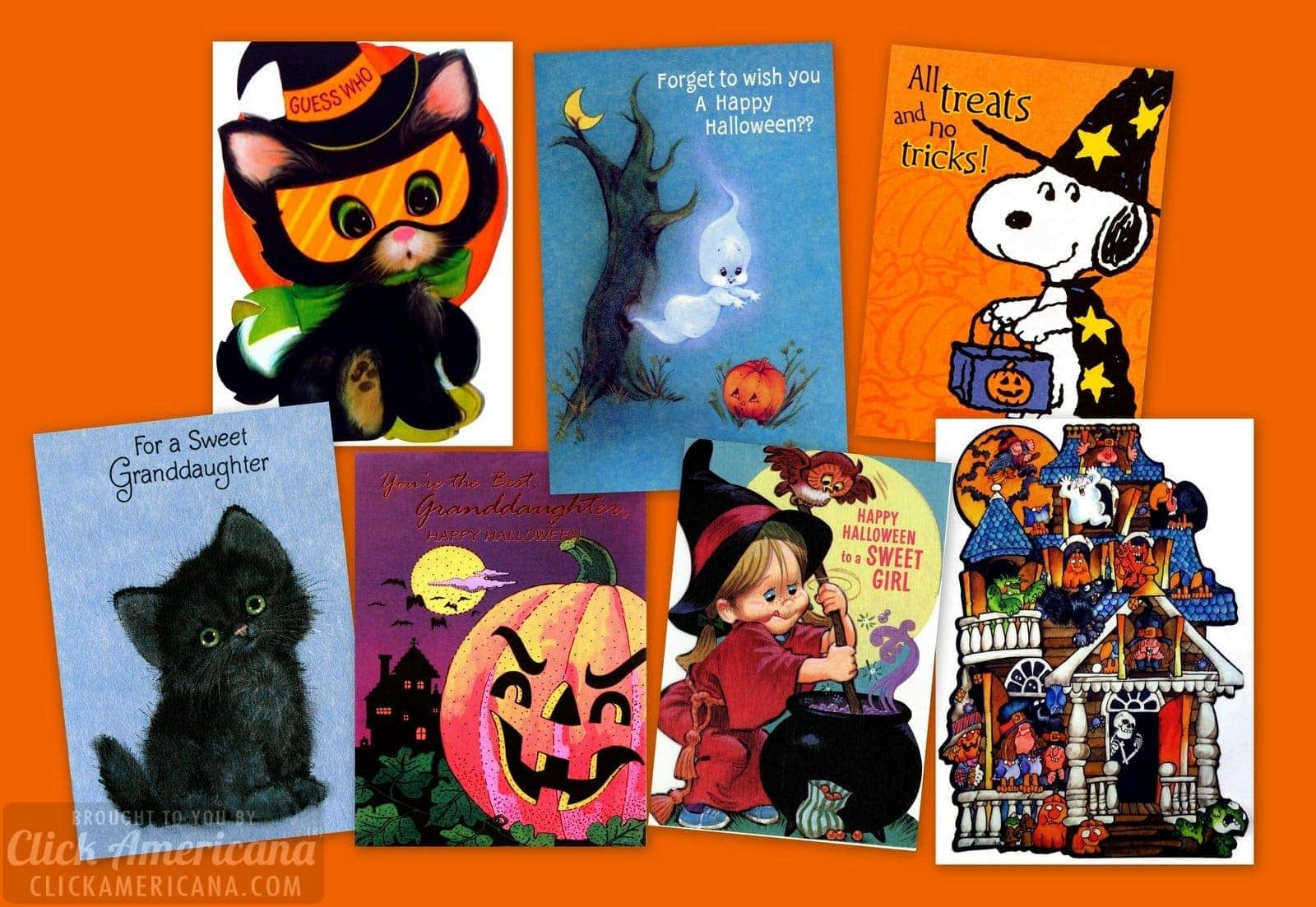 15 vintage Halloween cards for kids from the 70s & 80s