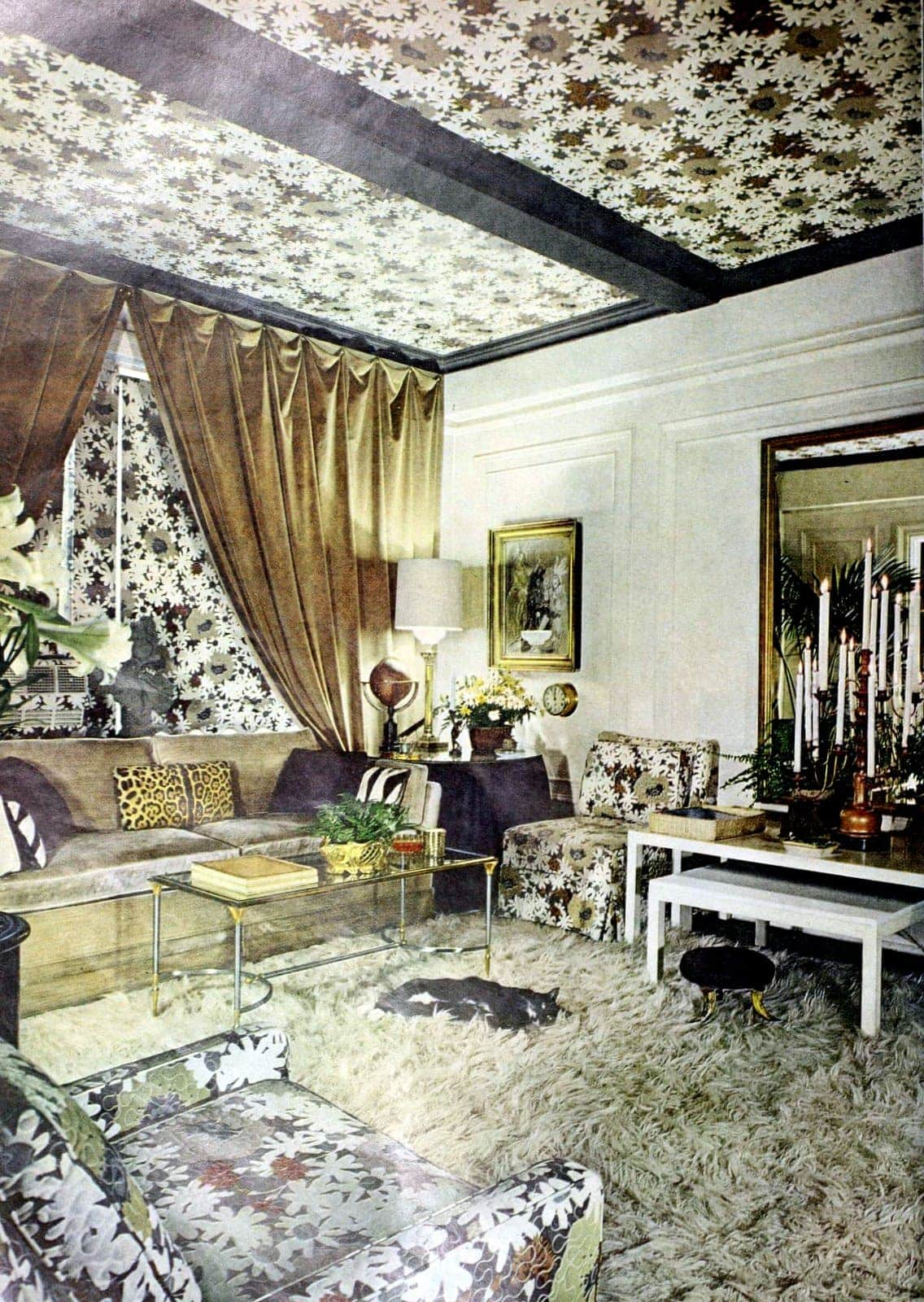 Super over the top retro living room decor from 1966 OTT