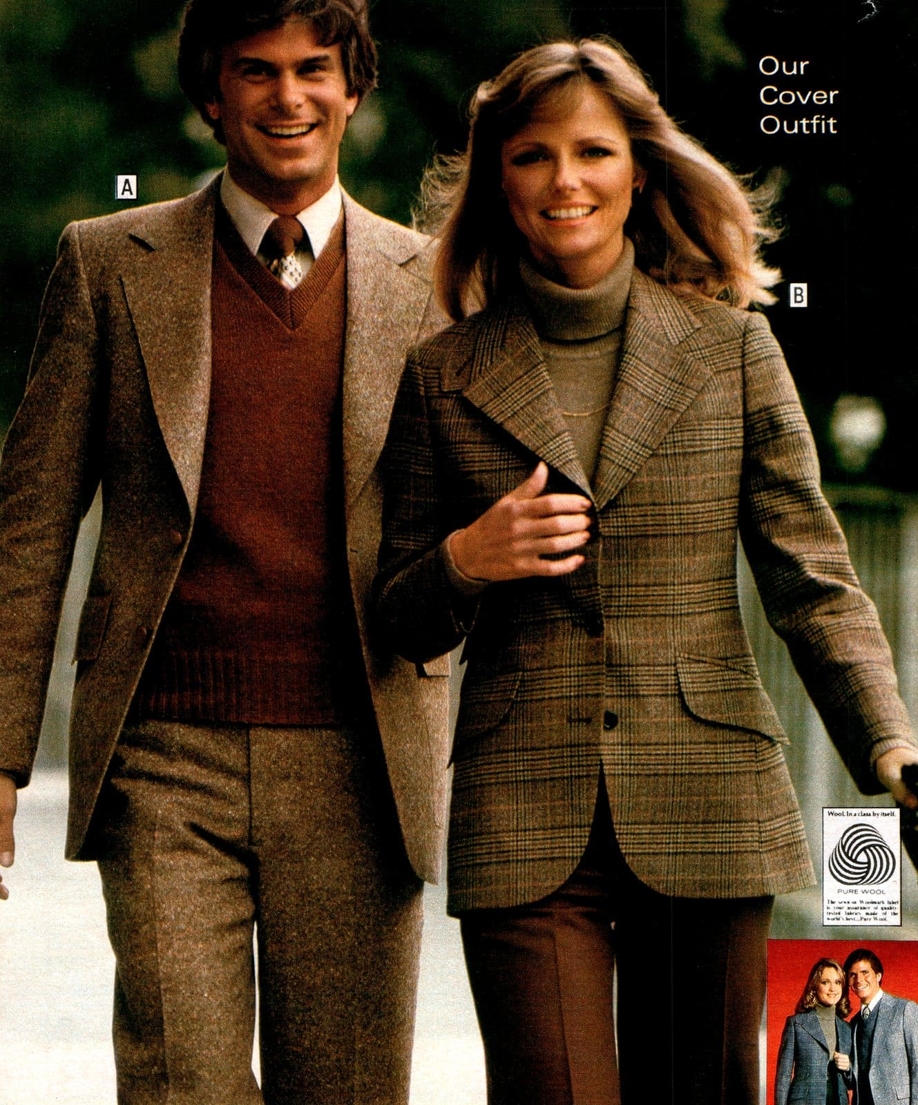 Supermodel Cheryl Tiegs in a tailored women's suit (1979)
