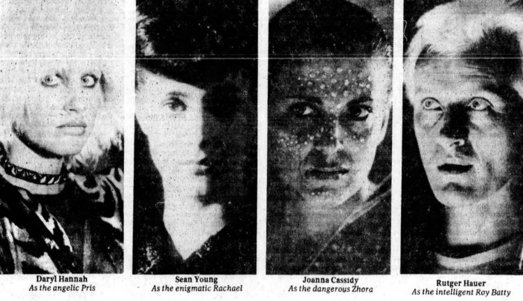 Supporting cast of Blade Runner movie from 1982