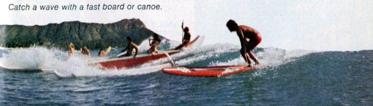 Surfing Waikiki 1973