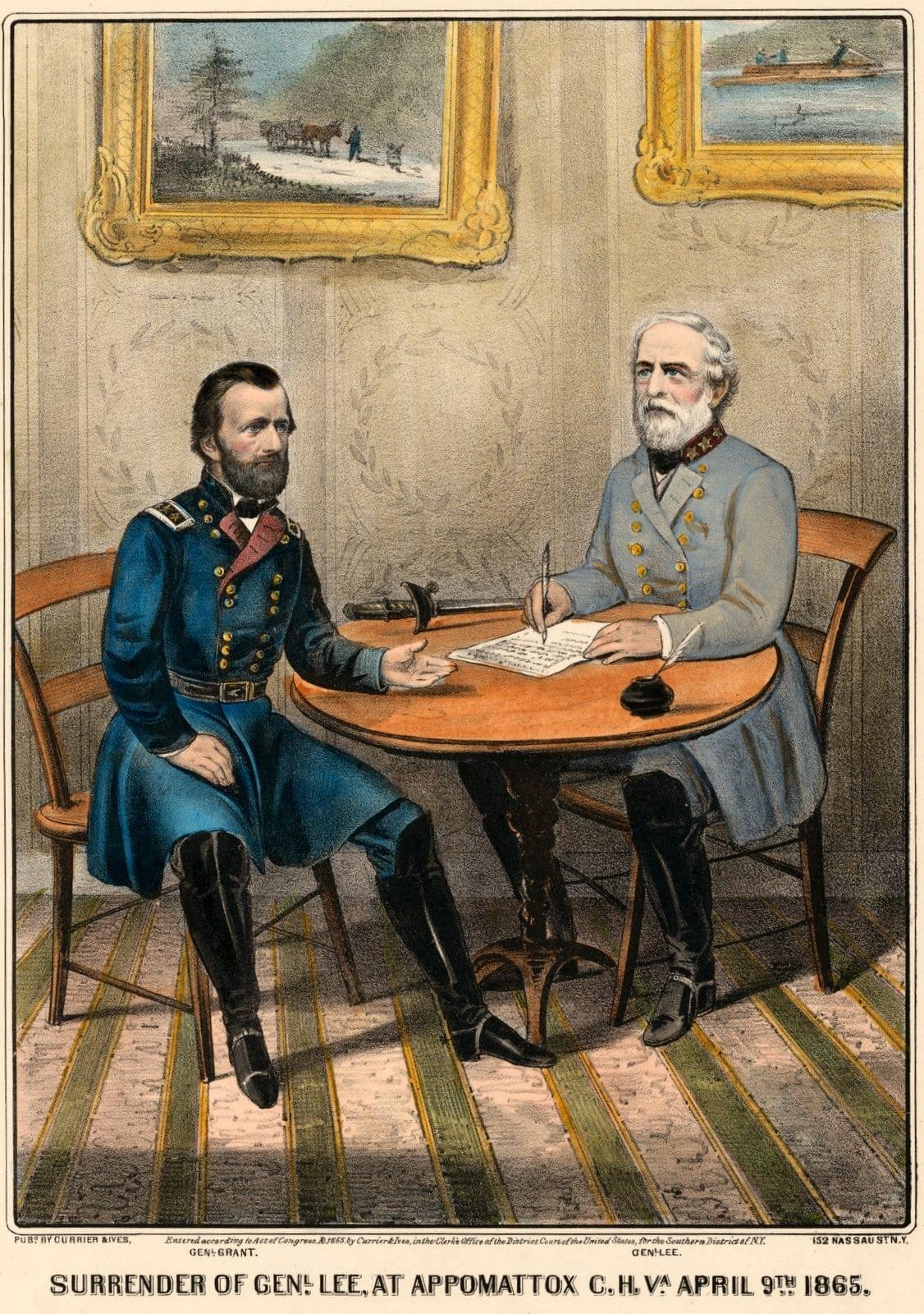 Surrender of General Lee - Currier and Ives