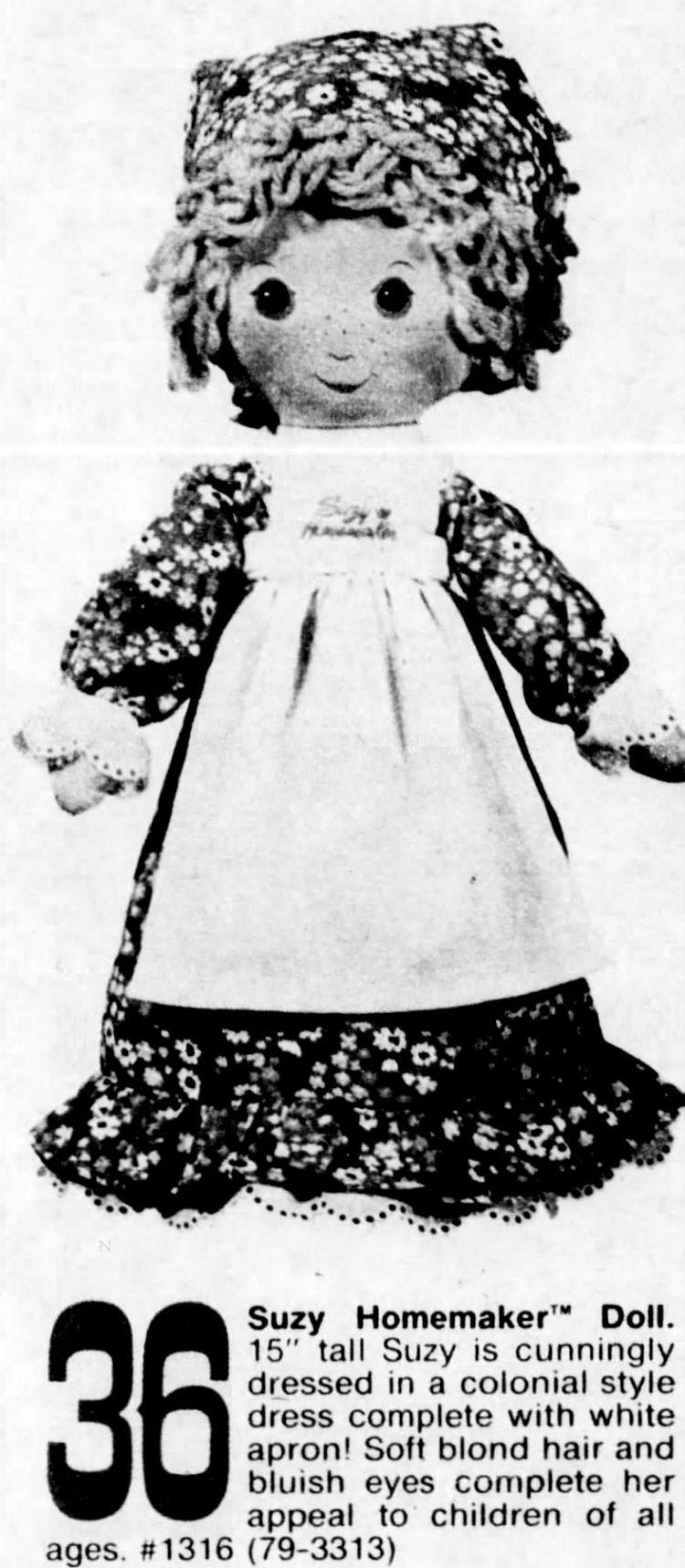 Suzy Homemaker doll from 1976