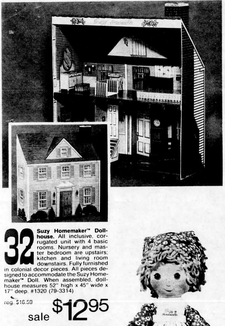 Suzy Homemaker doll house from 1976