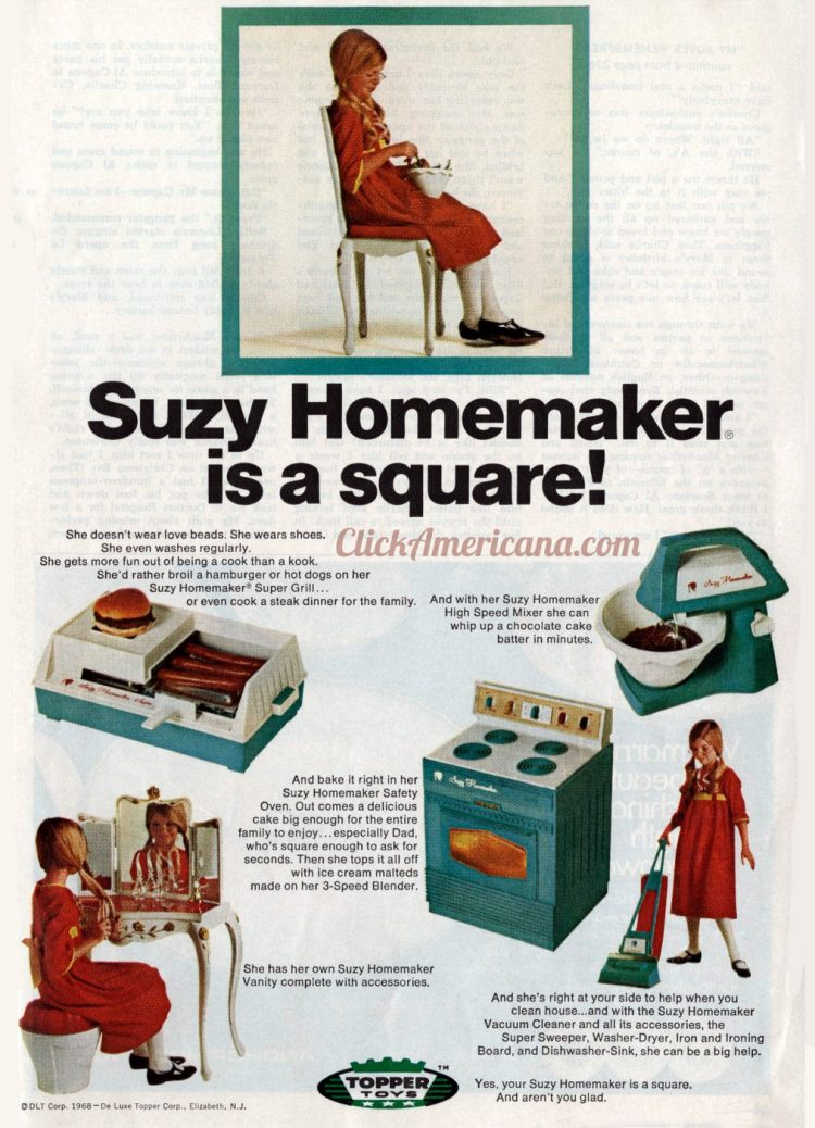 Suzy Homemaker is a square - Vintage toys from the sixties