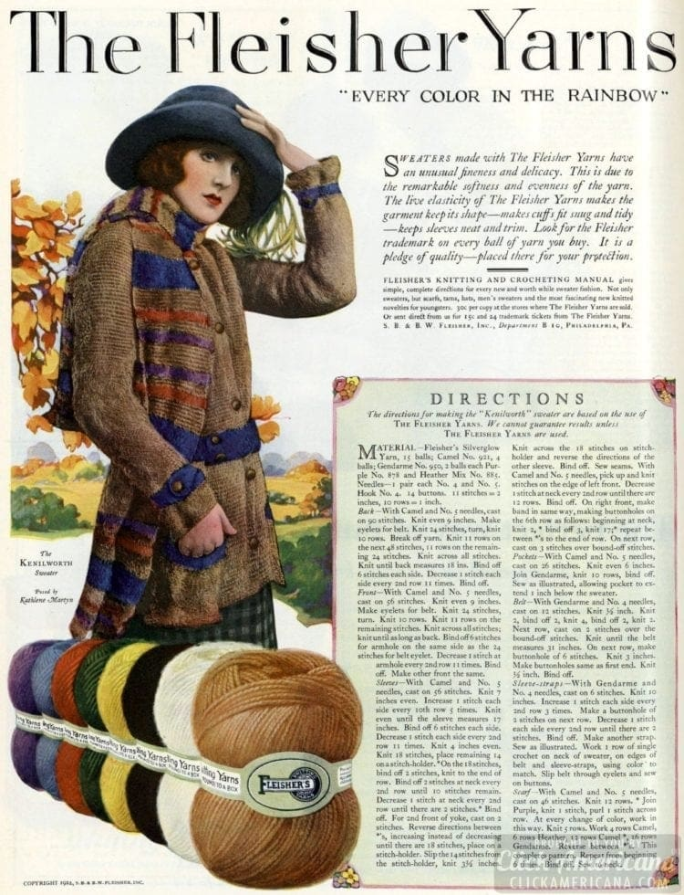 Sweater how-to from October 1922