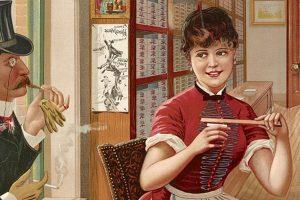 Sweet Violet cigarettes. Globe Tobacco Co 1886-001