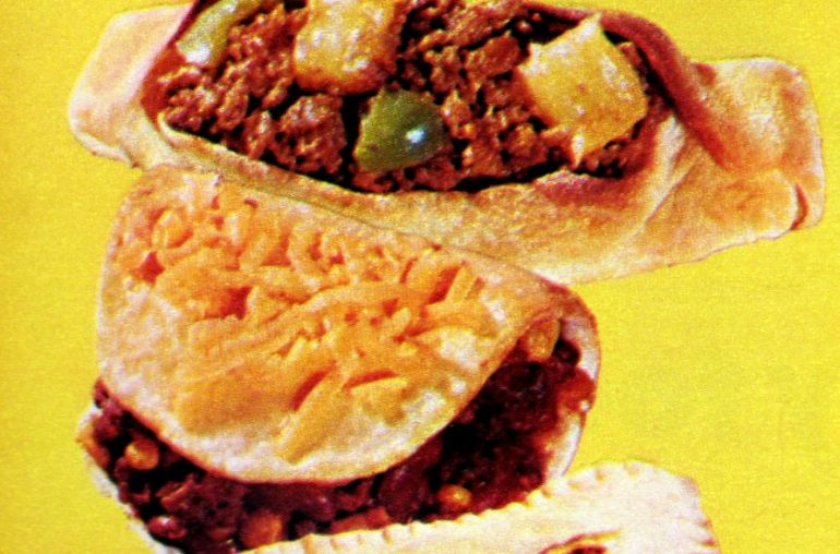 Sweet and Sour Shape Ups ground beef recipe (1972)