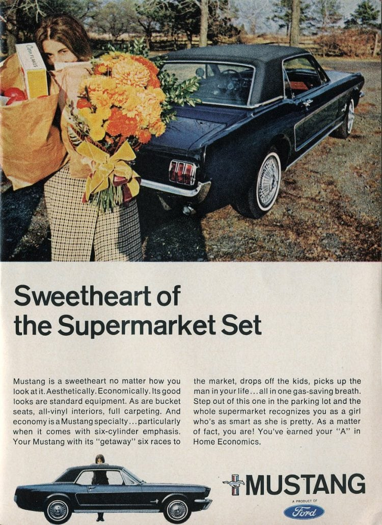 Sweetheart of the Supermarket set - 1966 Ford Mustang vintage cars