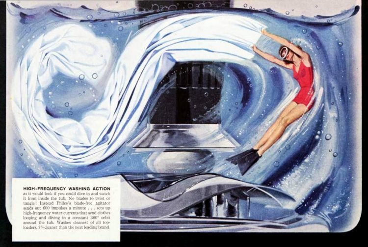 Swimming in the washing machine - 1950s