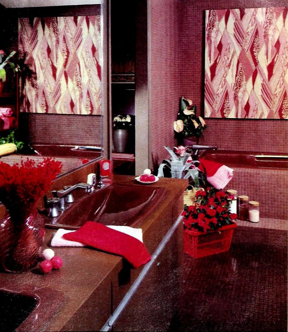 Swiss Chocolate bathroom with whirlpool tub (1980)