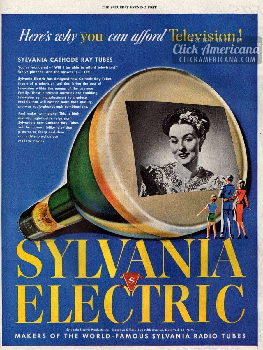 Sylvania cathode ray tubes: Making TV affordable (1946)
