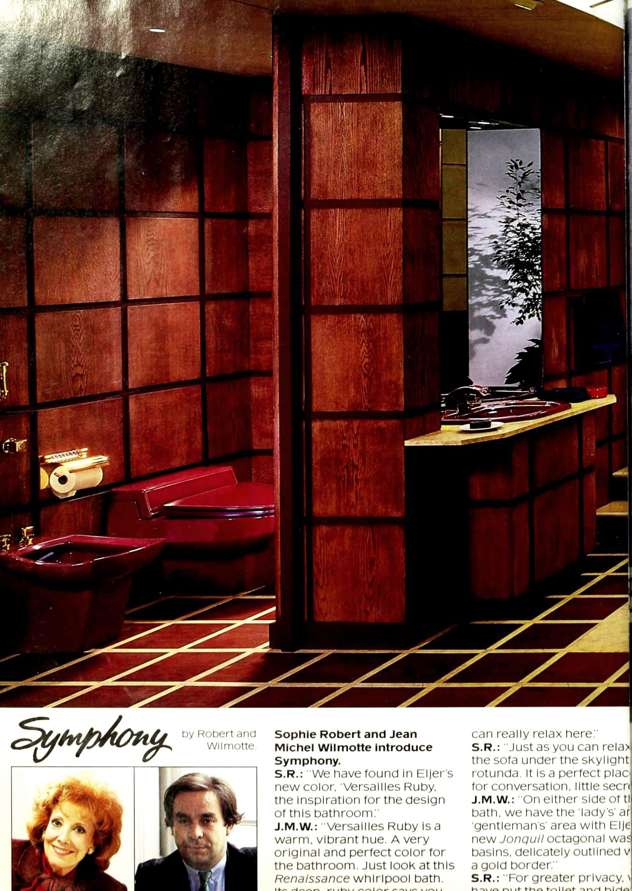 Symphony bathroom style in ruby red (1986)