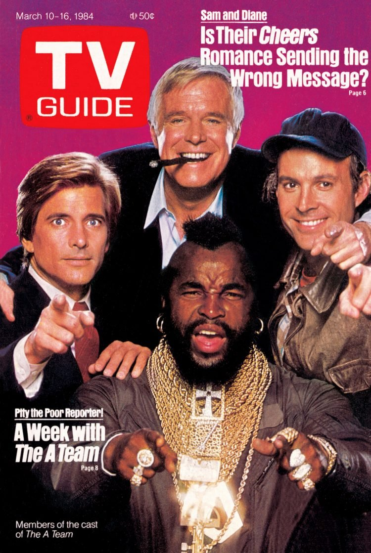 TV Guide - A Team TV show - cover from 1984