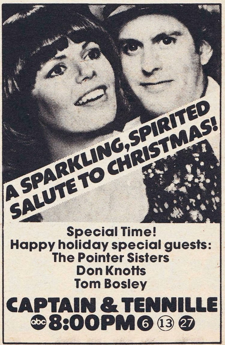 TV Guide Christmas special ABC's Captain & Tennille Show 1976
