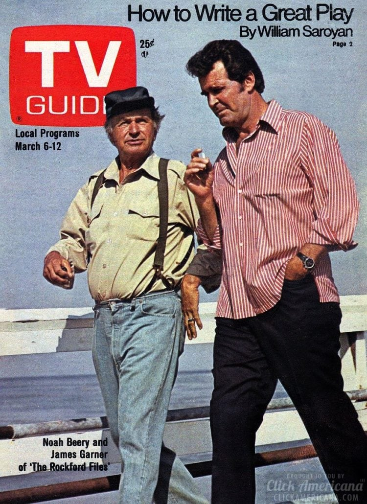 TV Guide cover 1976 - Noah Beery and James Garner - The Rockford Files