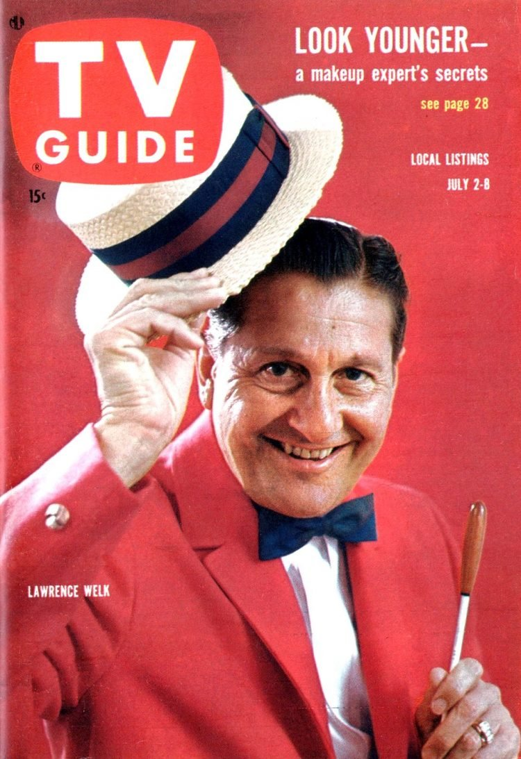 TV Guide cover with Lawrence Welk