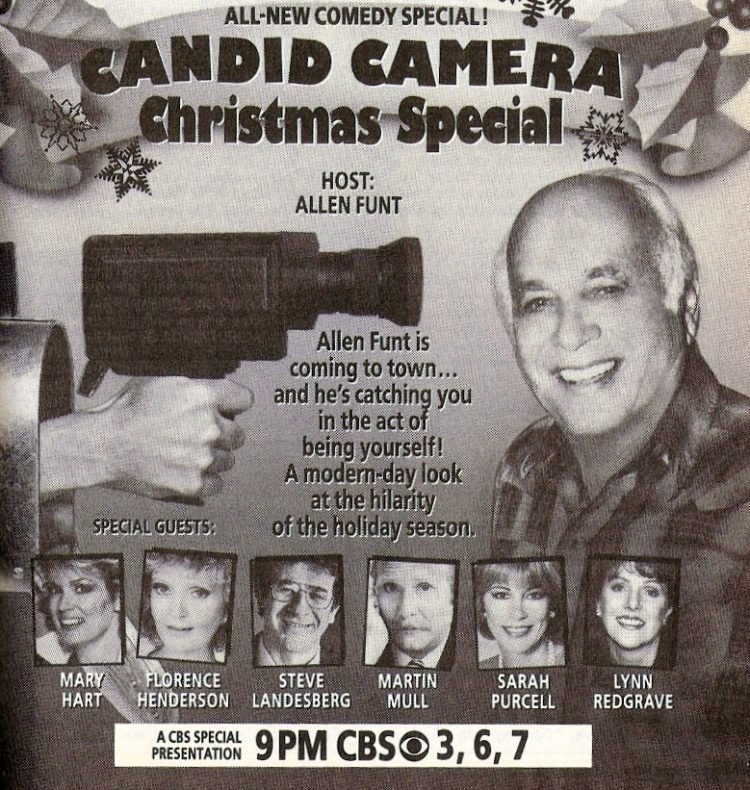 TV Guide holiday Candid Camera special from 1987