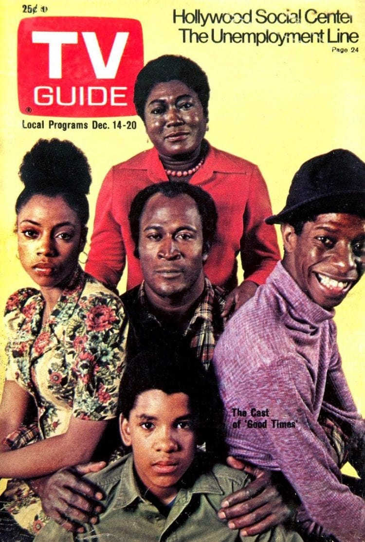 TV Guide with the Good Times cast 1970s