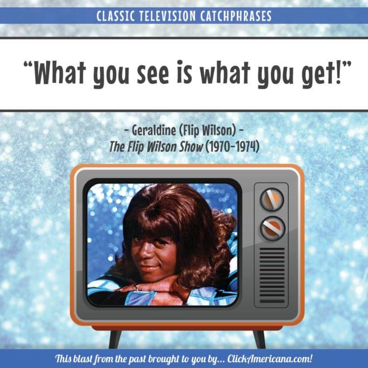 TV catchphrases Flip Wilson