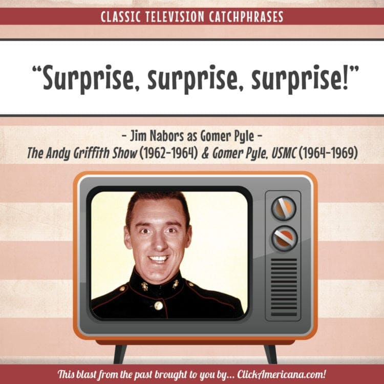 TV catchphrases of the '60s - Surprise, surprise, surprise! - Gomer Pyle