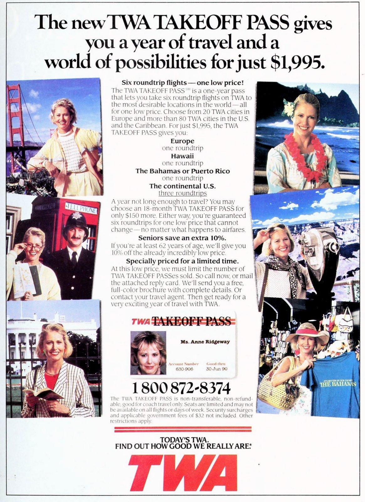 TWA - Airline Takeoff Pass (1989)