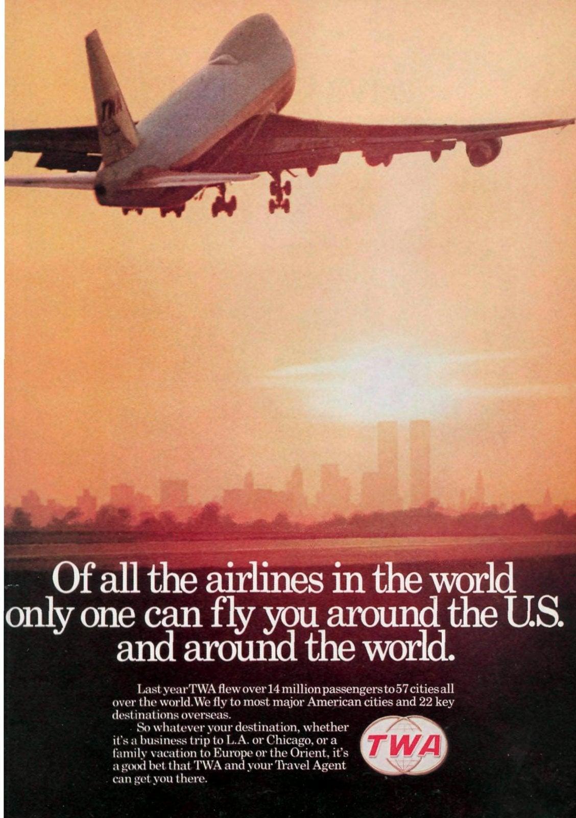 TWA - Fly around the world (1974)