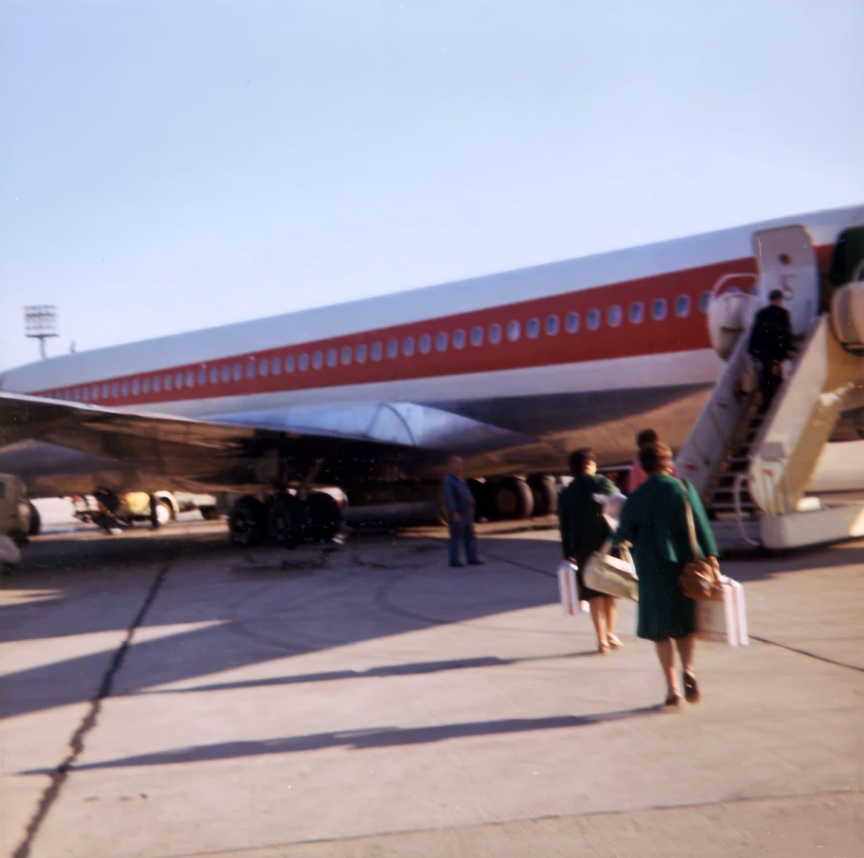 TWA plane snapshot from the 1960s