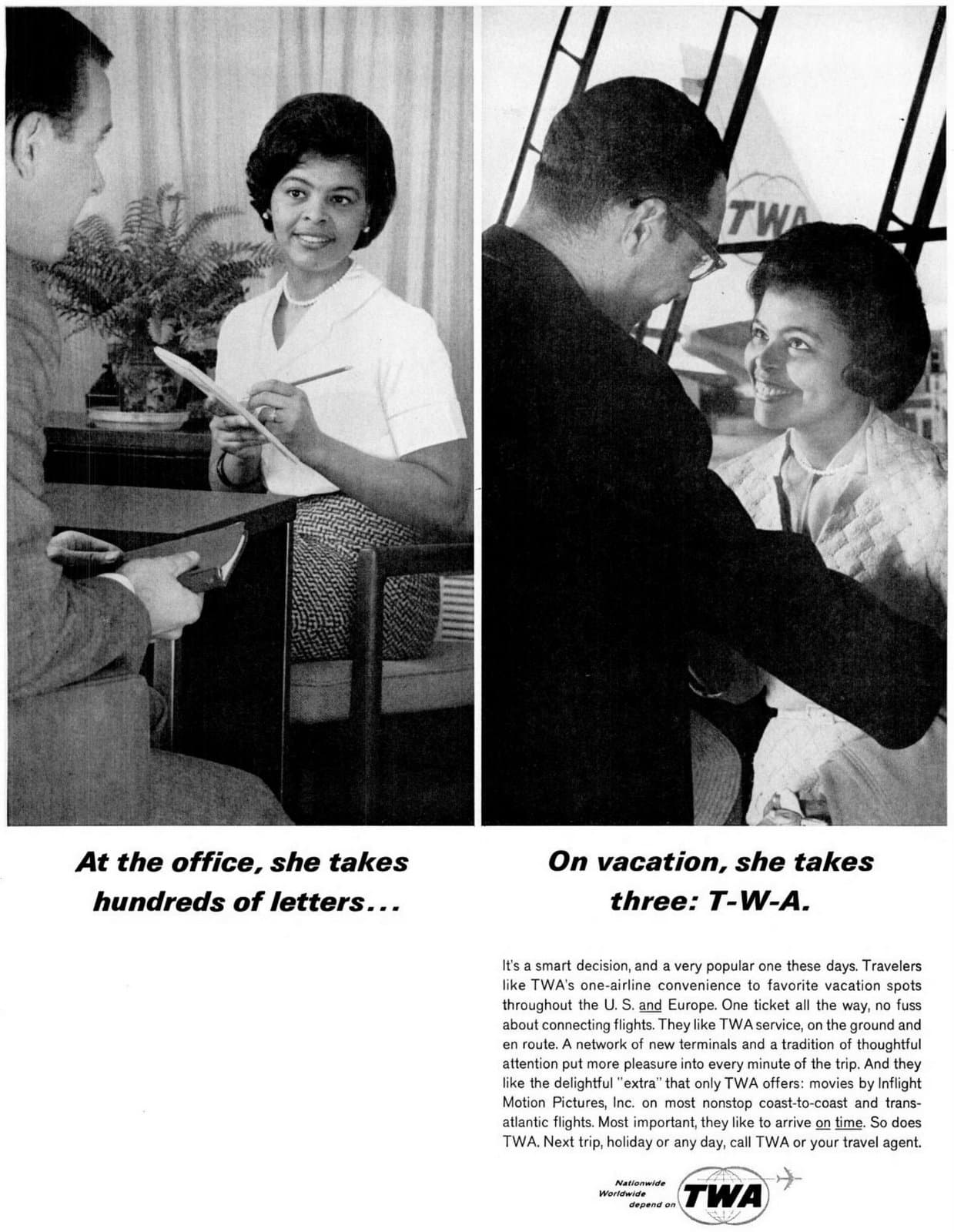 TWA vacations - Airline history (1965)