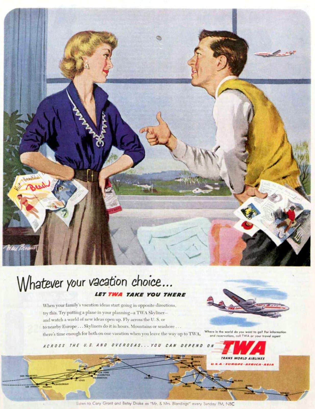 TWA vacations - travel (1951)