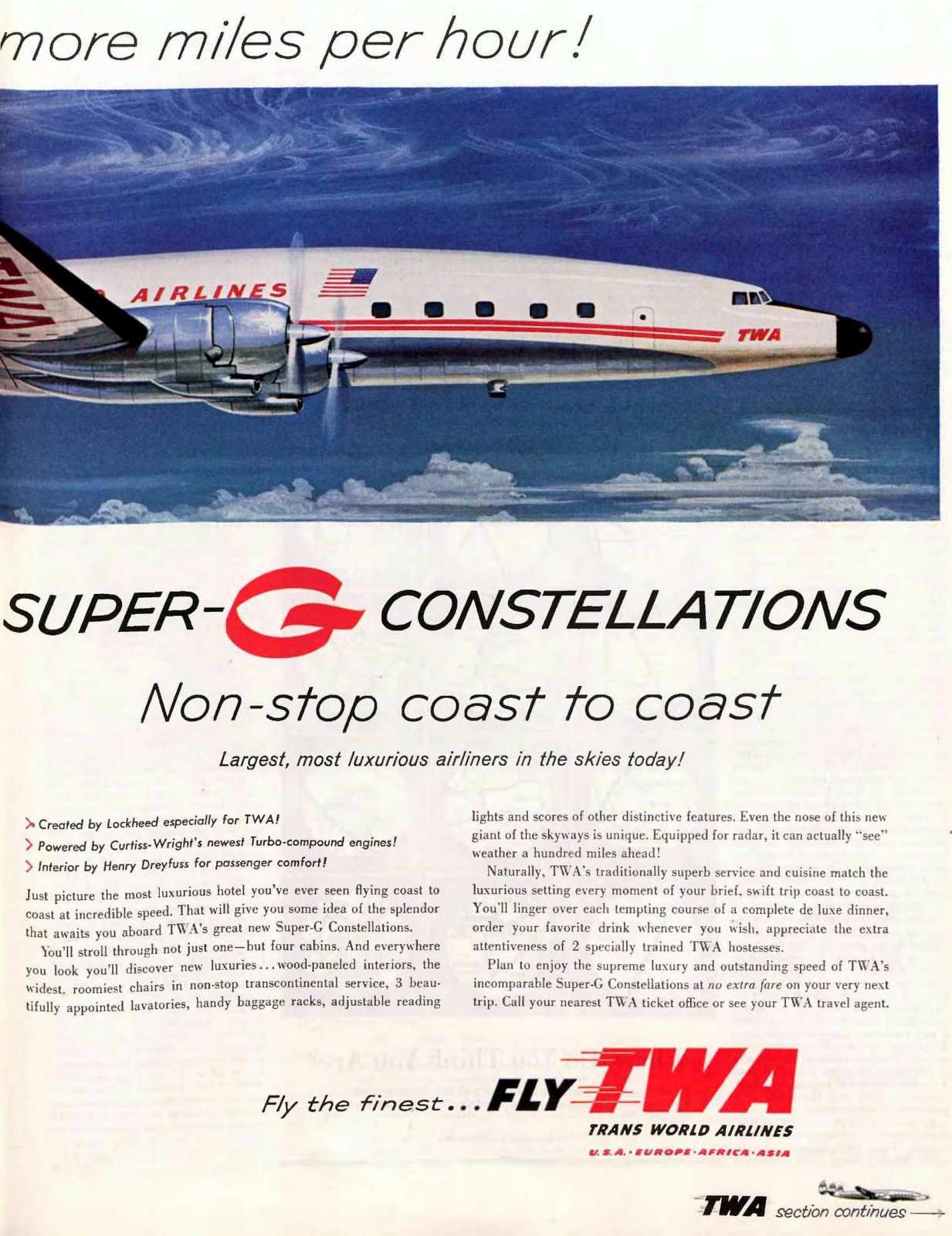 TWA's Super G Constellation aircraft from 1955 (1)