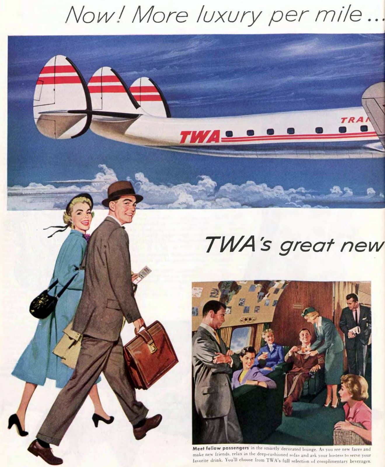 TWA's Super G Constellation aircraft from 1955 (2)